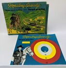 1950 HOPALONG CASSIDY Target Practice & Stage Coach Holdup Magnetic Dart Game