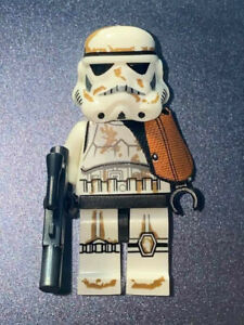 Custom Star Wars Minifigure Tatooine Desert Commander Sand Storm Trooper