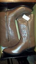 Women's brown leather Old West boots size 11