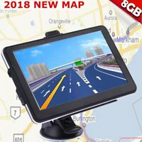 "8GB 5"" Truck Car GPS Navigation Navigator Free USA Canada Mexico US World Map#BT"