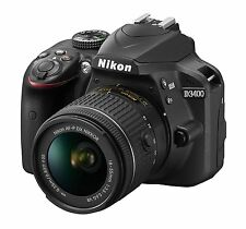 New! Nikon D3400 AF-P Digital SLR Camera with 18-55mm VR Lens Kit Black