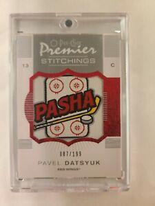 2007-2008 O-Pee-Chee Premier Stitchings- Pavel Datsyuk # 87/199