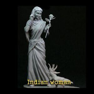 1/24 Resin Figure Model Kit Indian Woman flower beauty unpainted unassembled