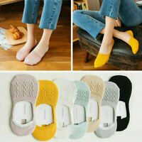 5 Pairs Women Loafer Boat Invisible No Show Nonslip Liner Low Cut Cotton Socks