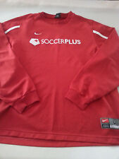 NIKE SOCCER FOOTBALL RED LARGE LONG SLEEVE POLYESTER ATHLETIC SHIRT
