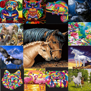 New Animal Oil Painting By Numbers Kit Craft DIY Paint On Canvas Frameless Dog
