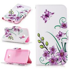 Flower Flip Wallet PU Leather Card Stand Case Cover For Samsung Galaxy A5 2017