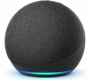 AMAZON Echo Dot (4th Gen) Smart Speaker Voice Commands Charcoal - Currys
