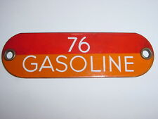 "Vintage Original 76 Gasoline Metal Porcelain Oil Gas Fuel Pump Bulk 5"" Tag Sign"
