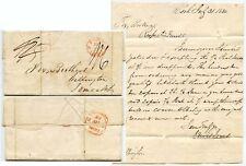 IRELAND CORK STARRED DATESTAMP 1830 LETTER to WELLINGTON SIGNED LEWIS JONES