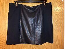 EXPRESS Metallic & Black Color Block Mini Skirt Large NWT