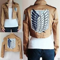 Attack on Titan Shingeki no Kyojin Scouting Legion Costume Coat Jacket Costume