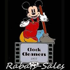 Mickey Film Roles - Clock Cleaner 1937 - Disney Auctions Pin LE100 - New On Card