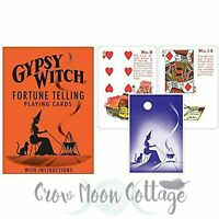 GYPSY WITCH FORTUNE TELLING CARD DECK Wicca Pagan Witchcraft Lenormand Cards