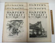 LOT (6) Vintage [1901] HARPER'S WEEKLY Magazine Back Issues yz4989