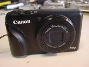 CANON POWERSHOT S90 DIGITAL CAMERA - WITH BATTERY & 8GB MEMORY CARD