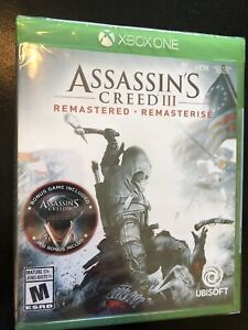 Assassin's Creed III Remastered (Xbox One, 2019) BRAND NEW/SEALED