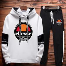 Ellesse Tracksuit Sportswear Men Pullover Sweatshirts Hoodie + Trousers Pant Set