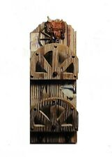 Bunk House Wall Mail Box ~ Rustic Wood ~ Western Cowboy with Saddle ~ Coat, Hook