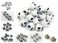 Craft DIYWhite with Black Halloween Gothic Skull Acrylic Beads Various Shape