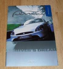 Ford Puma Sports Coupe Brochure 1999 1.4 16v 1.7 16v