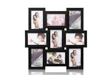 Black Multi Aperture Photo Picture Frame - Holds 9 X 6''X4'' Photos  CL-1015BK9