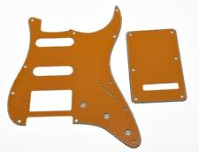 ST Strat HSS Pickguard, Trem Tremolo Back Cover w/ Screws Pure Orange for Fender