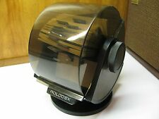 VTG ROLODEX SW-24C Space Age Swivel Base Contact w Cards Organizer Faux Wood USA