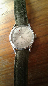 Waltham 17J Military Style Serviced AS1803 / ST1803 Swiss Triple signed