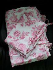 Twin Size Bedding Duvet Cover & Pillow Case Roses Tie Closure