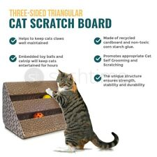 Cat Scratch Play Post Kitten Scratching Triangle Pad Resistant Board Recyclable