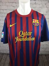 BARCELONA FOOTBALL SHIRT ORIGINAL NIKE BARCA HOME KIT 2011-2012 QATAR SIZE L LFP
