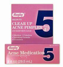 Rugby Benzoyl Peroxide Lotion 5% Acne Medication 1 fl. Oz.