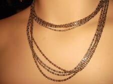 """Inusual oro y bronce tono multi cadena collar con Clip de ajuste independiente 36"""""""