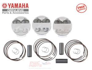 YAMAHA YXZ1000R Gytr Haut Compression Piston Set 2016-2018 OEM 2HC-E16A0-V0-00