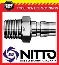 """NITTO MALE COUPLING AIR FITTING WITH 3/8"""" BSP MALE THREAD (30PM) – JAPAN MADE"""