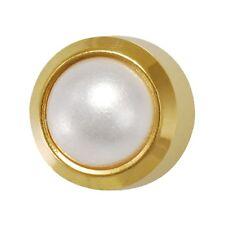 Studex Orecchio Piercing Mini Placcato Oro Orecchini a Perno Perla 2mm impostazione lunetta
