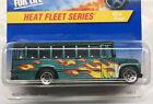 1997 Hot Wheels #538 School Bus Heat Fleet Series  # 2/4  excellent card FREESHP