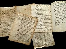 Lot Of Four Paper Documents 1740s