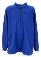 Nike Mens Size XLT Long Sleeve 1/4 Zip Pullover Sweatshirt Blue