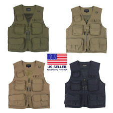 Mororock Fishing Vest 14 Pockets Hunting Photography Quick Dry Waistcoat Jackets
