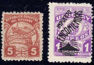 1947-49 Uruguay SC# Q70, Q74 - Parcel Post Stamps - M-NH
