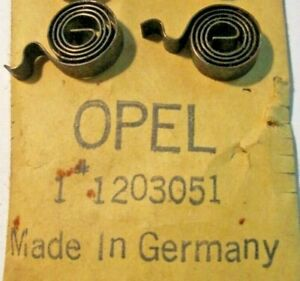 OPEL REKORD OLYMPIA 1958-62 SET OF 2 STARTER MOTOR BRUSH SPRINGS