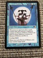 Decree Of Silence - Scourge - Enchantment Card mtg magic the gathering Lp/NM