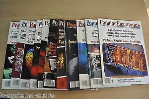 Popular Electronics Magazine Collection from 1981 year In Good Condition !
