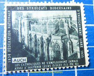 Cinderella/Poster Stamp - France 1934 - Écoles Catholiques - 462