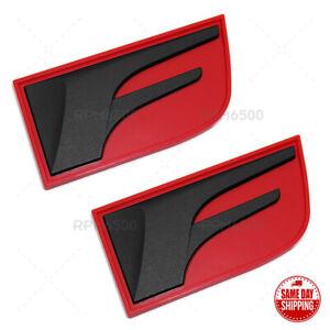Lexus Black Red IS GS RC F Fender Letter Logo Badge 3D Decal Emblem Car F-Sport