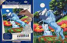 UNICORN BY MOONLIGHT WATERFALL PAINTING ACRYLIC PAINT BY NUMBERS BOX CANVAS PCS9