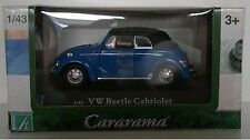 1:43 Scale Cararama Volkswagen Beetle Cabriolet Diecast Model - Blue