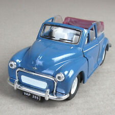 Morris Minor 1000 1956 Die-Cast Model Car Convertible 1:26 Scale Blue Top Down